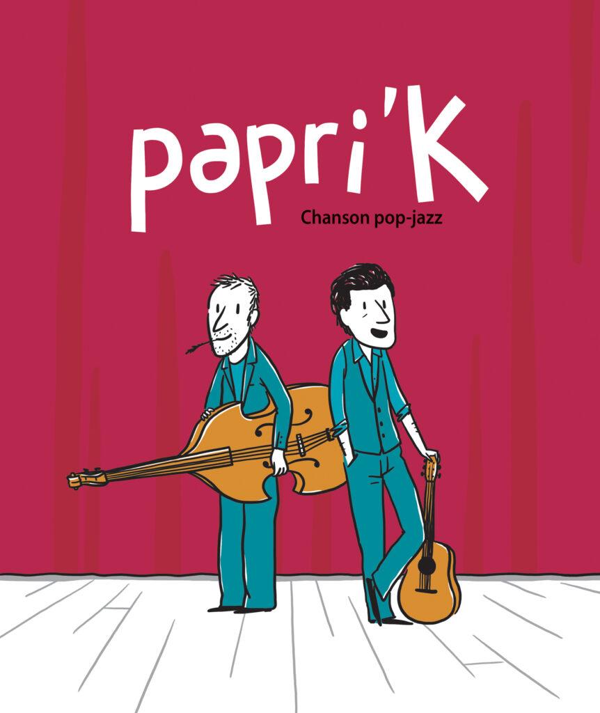 affiche rouge Papri'K